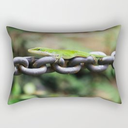 Anole on Chain I Rectangular Pillow