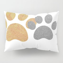 Paw prints with a splash of sparkle Pillow Sham