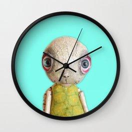 Sheldon The Turtle - Teal Blue Wall Clock