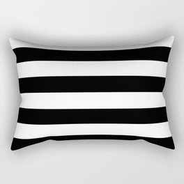 Black & White Stripes- Mix & Match with Simplicity of Life Rectangular Pillow