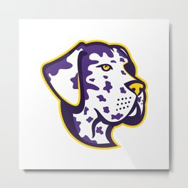 Great Dane Dog Mascot Metal Print
