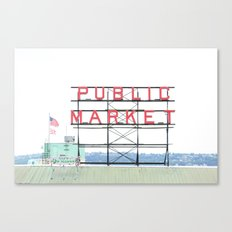 Seattle's Public Market Canvas Print