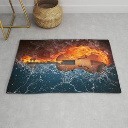 Fire and Water Violin Rug