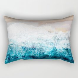 Watercolour Summer beach III Rectangular Pillow
