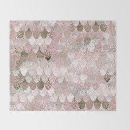 SUMMER MERMAID NUDE ROSEGOLD by Monika Strigel Throw Blanket