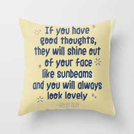 SUNBEAMS Throw Pillow