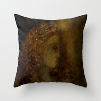 agnes cecile Throw Pillows featuring st agnes' eve by Imagery by dianna