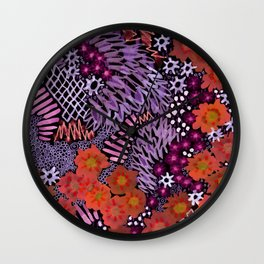 Grape Connection Wall Clock