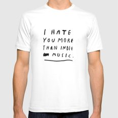 INDIE MUSIC X-LARGE Mens Fitted Tee White