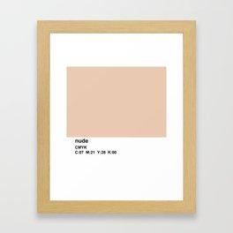 pantone, nude, CMYK colorblock Framed Art Print