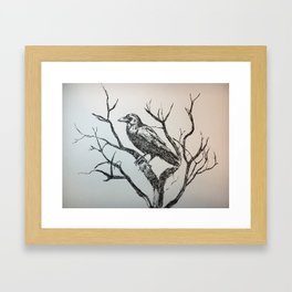 The gigantic raven Framed Art Print