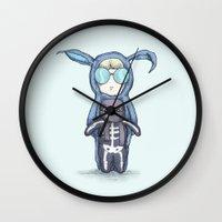 randy c Wall Clocks featuring Randy Darko  by Ludwig Van Bacon