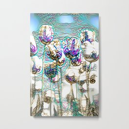 Dainty Tulips Metal Print