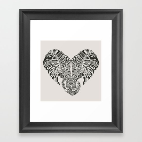 Huge Heart Framed Art Print