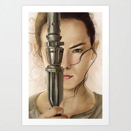 Scavenger Rey Art Print