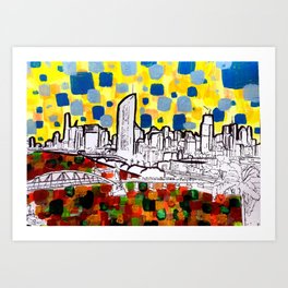 BRISBANE POSTCARD SERIES 015 Art Print