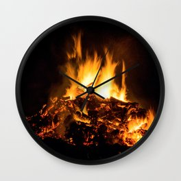 Fire flames Wall Clock
