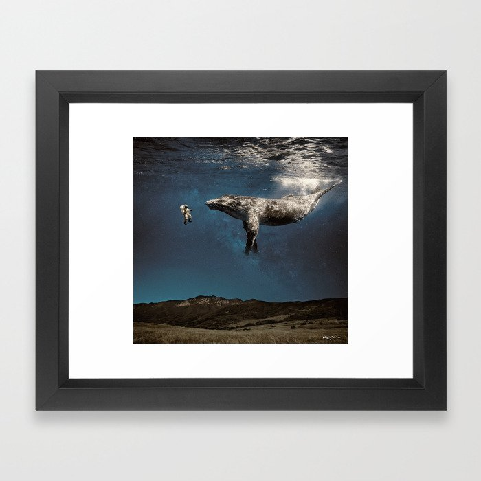 we exist in the same exhale. Framed Art Print