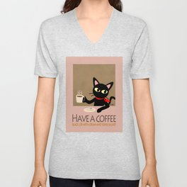 Have a coffee? Unisex V-Neck