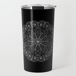Mandala, Exhibits Radial Balance, Spiritual and Ritual Symbol Travel Mug