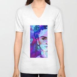 Dreaming of Frida - Art By Sharon Cummings Unisex V-Neck