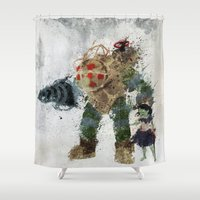 bubbles Shower Curtains featuring Bubbles by Melissa Smith