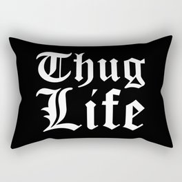 THUG LIFE (Black & White) Rectangular Pillow