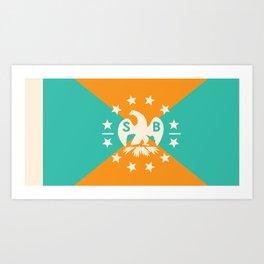 miami snowbird flag Art Print