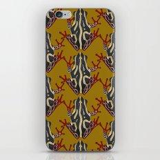congo tree frog gold iPhone & iPod Skin