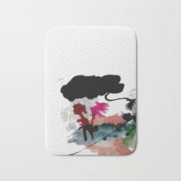 Begin [2]: a minimal abstract mixed media piece Bath Mat