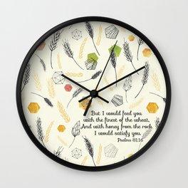 Psalms 81:16 Wall Clock