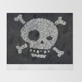 Confetti's skull Throw Blanket