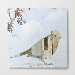 Reclaimed Wood Bird Metal Print