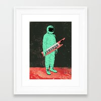 space jam Framed Art Prints featuring Space Jam by Chase Kunz