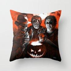 Freddy Krueger Jason Voorhees Michael Myers Super Villians Holiday Throw Pillow