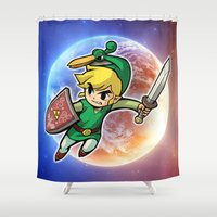 triforce Shower Curtains featuring Triforce Hero by Febrian89