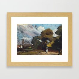 John Constable 1776–1837   Stoke-by-Nayland Framed Art Print