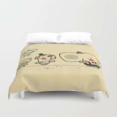 Forest Friends \ Cute Animals March\ elephant cats dogs  Duvet Cover
