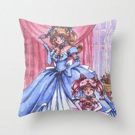 Moon Ladies Throw Pillow