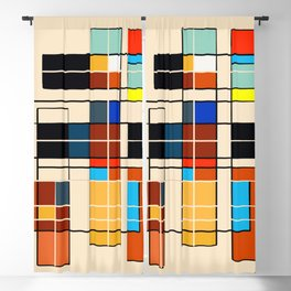 Abstract Geometric Composition Blackout Curtain