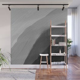 Monochromatic disk Gradient Black Wall Mural