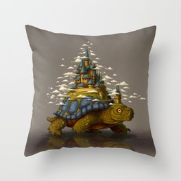 Monster of the Week: Walking Cities of Bas Throw Pillow