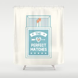 The Perfect Matches Shower Curtain
