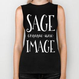 Sage Comme Une Image Biker Tank