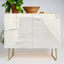 Relief [2]: an abstract, textured piece in white by Alyssa Hamilton Art Credenza