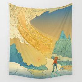 Golden Staircase Wall Tapestry