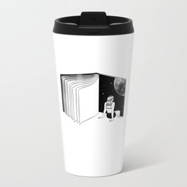 Reading is Dreaming with Your Eyes Open Metal Travel Mug