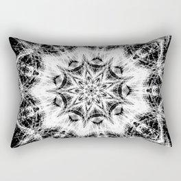 Atomic Black Center Swirl Mandala Rectangular Pillow