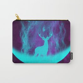 Enlightened Forest | Spirit Deer | Moon and Antlers | Space Deer Carry-All Pouch