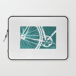 Teal Bike Laptop Sleeve